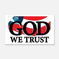 In God We Trust Rectangle Car Magnet