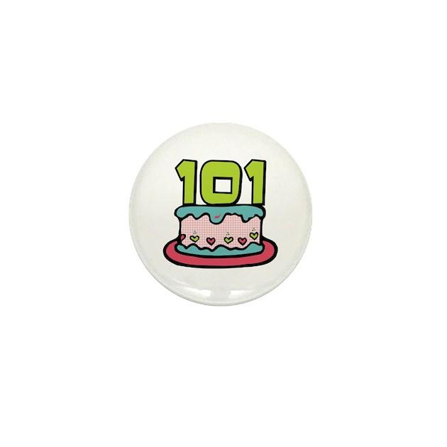 101st Birthday Cake Mini Button by keepsake_arts