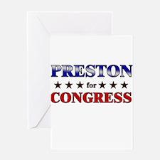 PRESTON for congress Greeting Card