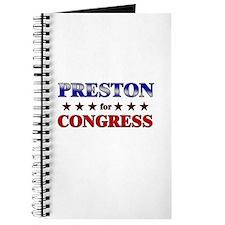 PRESTON for congress Journal