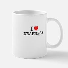 I Love DEAFNESS Mugs