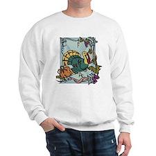 Cute Turkey and pilgrim Sweatshirt