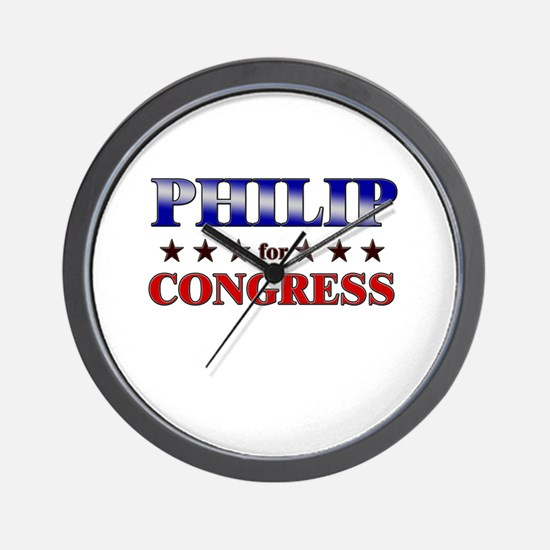 PHILIP for congress Wall Clock