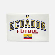 Ecuador Futbol/Soccer Rectangle Magnet