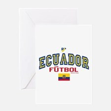 Ecuador Futbol/Soccer Greeting Card