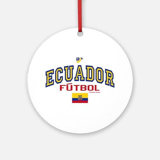 Ecuador Futbol/Soccer Ornament (Round)