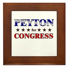 PEYTON for congress Framed Tile