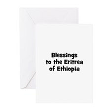 Blessings to the Eritrea of E Greeting Cards (Pk o
