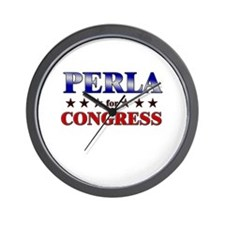 PERLA for congress Wall Clock