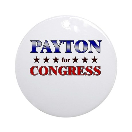 PAYTON for congress Ornament (Round)