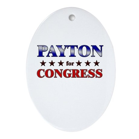 PAYTON for congress Oval Ornament