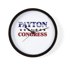 PAYTON for congress Wall Clock