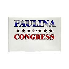 PAULINA for congress Rectangle Magnet