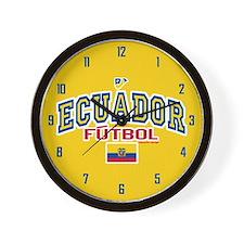 Ecuador Futbol/Soccer Wall Clock