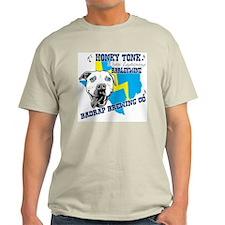 Honky Tonk White Lighting Ash Grey T-Shirt