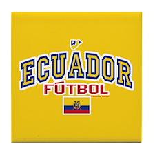 Ecuador Futbol/Soccer Tile Coaster