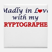 Madly in love with my Cryptographer Tile Coaster
