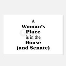 A Woman's Place is in the House and Senate Postcar