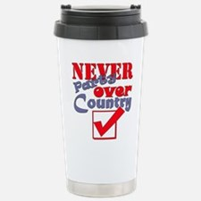 Never Party Over Country Travel Mug