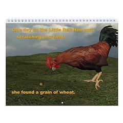 The Little Red Hen Story Wall Calendar