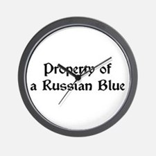 Property of My Russian Blue Wall Clock