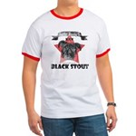 Black Stout  Vintage Ringer T