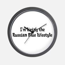 Living the Russian Blue Lifestyle Wall Clock