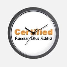 Certified Russian Blue Addict Wall Clock