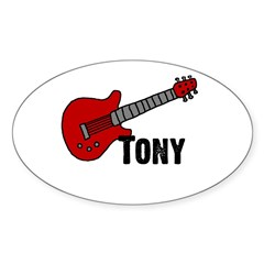 Guitar - Tony Oval Decal