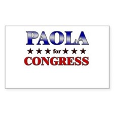 PAOLA for congress Rectangle Decal