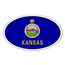 Kansas State flag Oval Decal