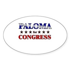 PALOMA for congress Oval Decal