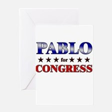 PABLO for congress Greeting Card