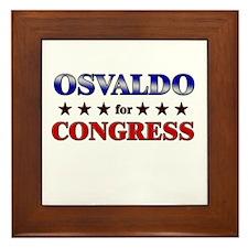 OSVALDO for congress Framed Tile