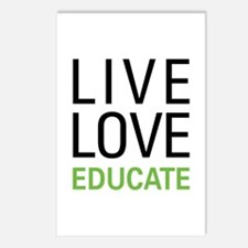 Live Love Educate Postcards (Package of 8)