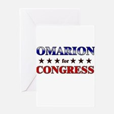 OMARION for congress Greeting Card