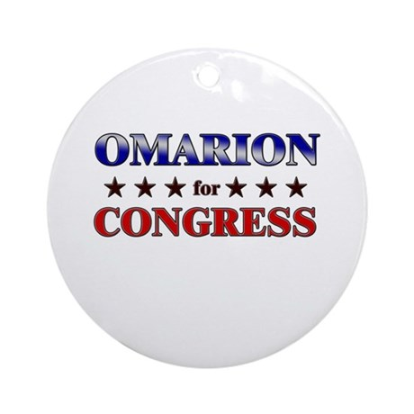 OMARION for congress Ornament (Round)