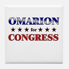OMARION for congress Tile Coaster