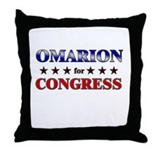 OMARION for congress Throw Pillow