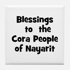 Blessings  to  the  Cora Peop Tile Coaster