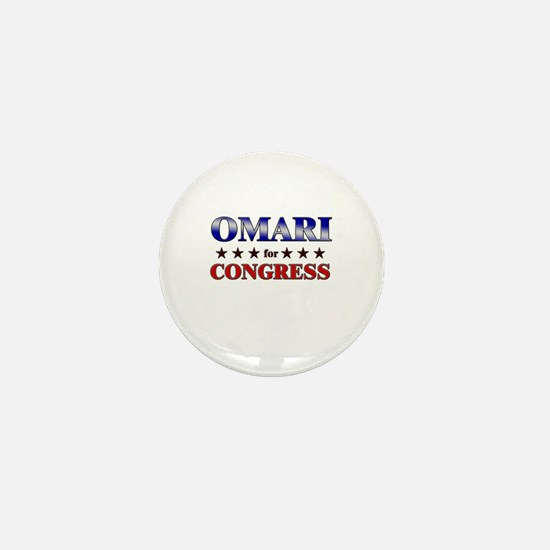 OMARI for congress Mini Button