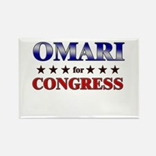 OMARI for congress Rectangle Magnet