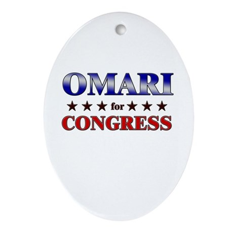 OMARI for congress Oval Ornament