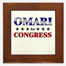 OMARI for congress Framed Tile