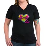 Spoiled - so what? Women's V-Neck Dark T-Shirt