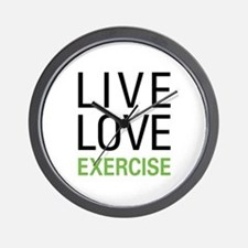 Live Love Exercise Wall Clock