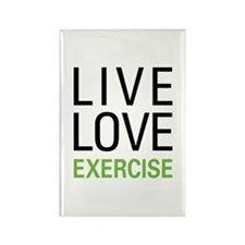 Live Love Exercise Rectangle Magnet