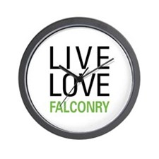 Live Love Falconry Wall Clock