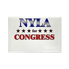 NYLA for congress Rectangle Magnet