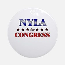 NYLA for congress Ornament (Round)